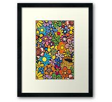 Pop Floral Surf Pattern Framed Print