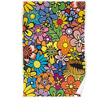 Pop Floral Surf Pattern Poster