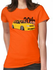 Imola Yellow 20th Graphic Womens Fitted T-Shirt