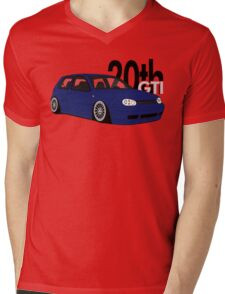 Blue 20th GTI Graphic Mens V-Neck T-Shirt