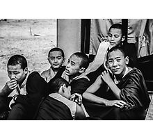 Buddha Boys Photographic Print