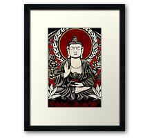 Gautama Budda Colour Crop Framed Print