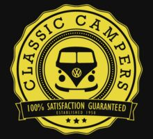 Retro Badge Yellow VW Classic by splashgti