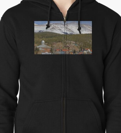 Main Street is Alive and Well Zipped Hoodie