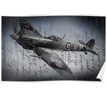 Spitfire over France  Poster