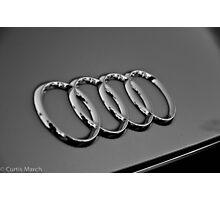 BlackWhite Audi Rings Photographic Print