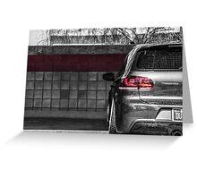 Volkswagen MK6 GTI Blackwhite Greeting Card