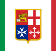 Civil Ensign of Italy  Sticker