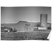 Colorado Front Range Farming BW Poster