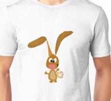 Cool Funny Brown Bunny Rabbit Art Unisex T-Shirt