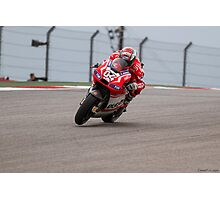 Andrea Dovizioso at Circuit Of The Americas 2014 Photographic Print