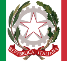 State Ensign of Italy  Sticker