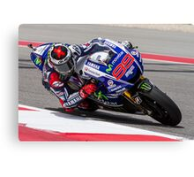 Jorge Lorenzo at Circuit Of The Americas 2014 Canvas Print
