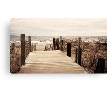 Lake Superior Beach in Duluth Minnesota 1 Canvas Print
