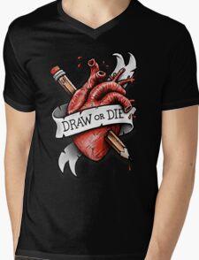 Draw or Die Mens V-Neck T-Shirt