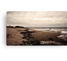 Lake Superior Beach in Duluth Minnesota 2 Canvas Print