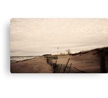 Lake Superior Beach in Duluth Minnesota 3 Canvas Print
