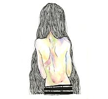 Skinny Coloured Back Photographic Print