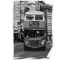 Double Decker black white Poster