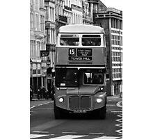 Double Decker black white Photographic Print