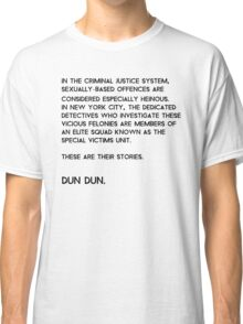 Law & Order: Special Victims Unit Classic T-Shirt
