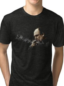 Tony Soprano Smoking A Sigar Tri-blend T-Shirt