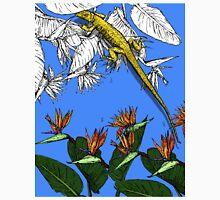 Iguana on Tropical Paradise Unisex T-Shirt