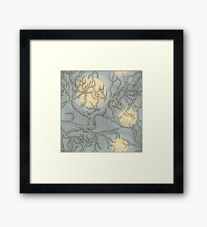The Moon and The Yew Tree Framed Print