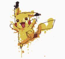 Pikachu Splatter Kids Clothes
