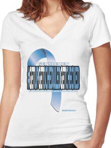 Prostate Cancer Awareness  Women's Fitted V-Neck T-Shirt