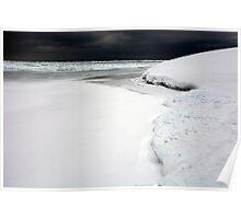 Snow Storm - Lake Superior Poster