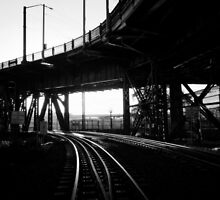 Portland Train Tracks. Collaboration with Sabrina Geerdes. by ShellyKay
