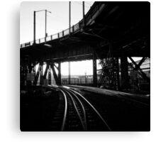 Portland Train Tracks. Collaboration with Sabrina Geerdes. Canvas Print