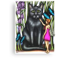 Misty and the Fairy Canvas Print