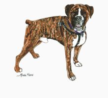 Daily Doodle 25- Power - Adoptable Boxer, Boyd by ArtbyMinda