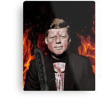 The Punisher + JFK Mash Up Metal Print