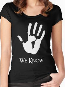 We Know Women's Fitted Scoop T-Shirt