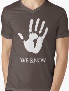 We Know Mens V-Neck T-Shirt