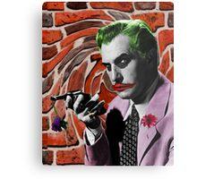The Joker + Vincent Price Mash Up Metal Print