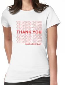Thank you plastic sack Womens Fitted T-Shirt