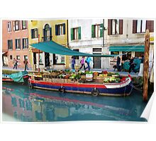 Floating Produce Market, Venice Poster