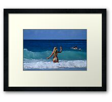 Waving....NOT... Drowning Framed Print
