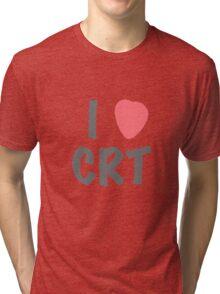Steins Gate - I Heart CRT Tri-blend T-Shirt