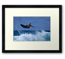 Air Time At Duranbah Framed Print