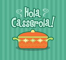 Hola Casserola! Spanglish illustration print by papelypastel