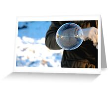 Frozen Bubble Reflection Greeting Card