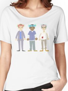 poorly matched friends (flowercrown version) Women's Relaxed Fit T-Shirt