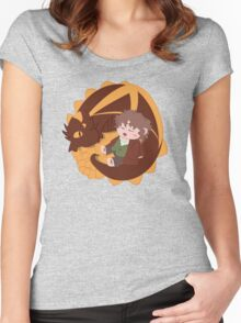 Smaug & Bilbo Women's Fitted Scoop T-Shirt
