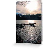 On a Frozen Lake Greeting Card