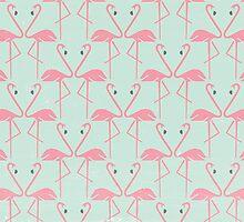 Pink Flamingos by KarinBijlsma